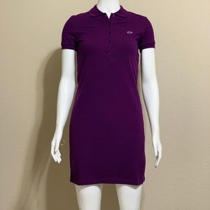 Lacoste Women Stretch Cotton Mini Piqué Polo Dress